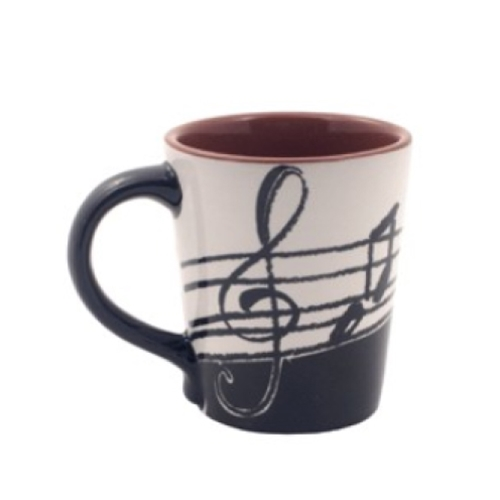 Aim Gifts AIM56165 Music Notes Latte Mug